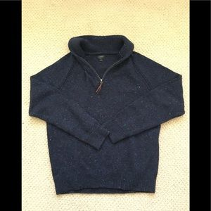 Men's J.Crew L/S Blue Rag Shawl Collared Sweater